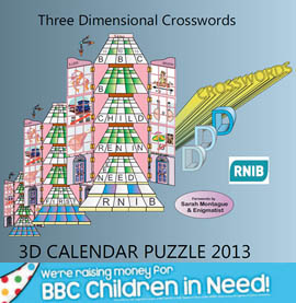 3D Calendar Puzzle 2013 - We're raising money for BBC Children in Need
